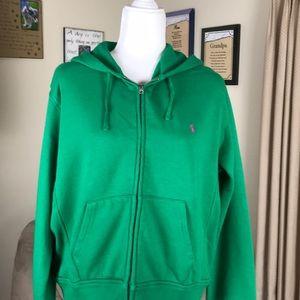 Ralph Lauren zip hooded sweatshirt..XL..green
